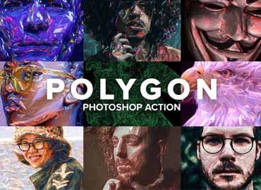Polygon Photoshop Action