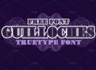 Guilloches TrueType Font