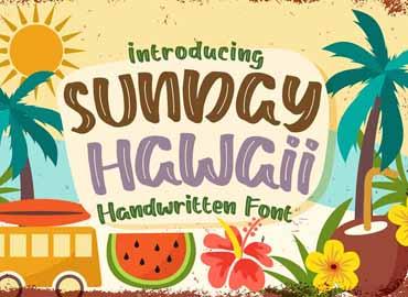Sunday Hawaii Font