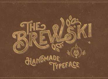 The Brewski Textured Typeface Font