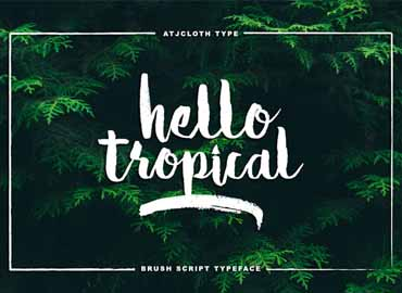 Hello Tropical Font