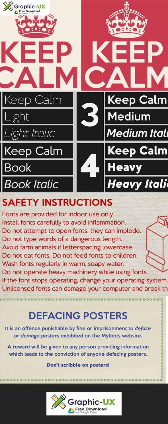 Keep Calm Font Family