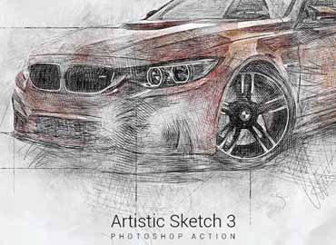Artistic Sketch 3 Photoshop Action