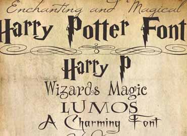 harry potter font