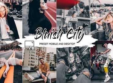 BLUISH CITY LIGHTROOM PRESET + LUT