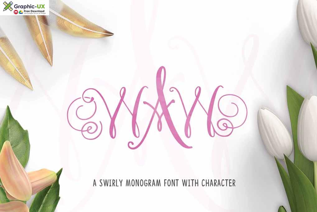 WAW Monogram Font