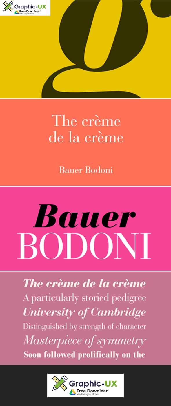 Bauer Bodoni Font Family