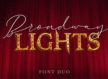 Broadway Lights Font