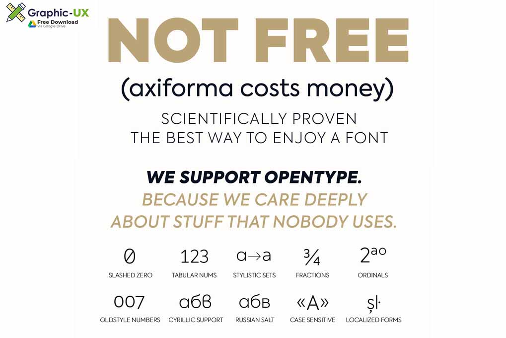 Axiforma Font Free