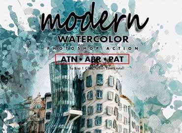 Modern Watercolor Photoshop Action