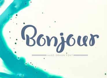 Bonjour Font Free Download