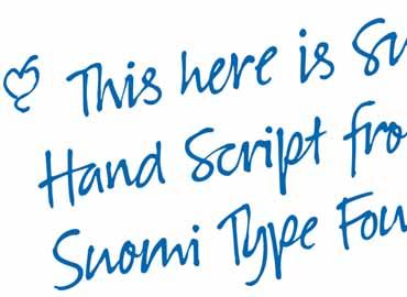 Suomi Hand Script