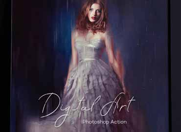 Digital Art Photoshop Action