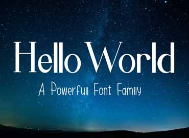 Hello World Font