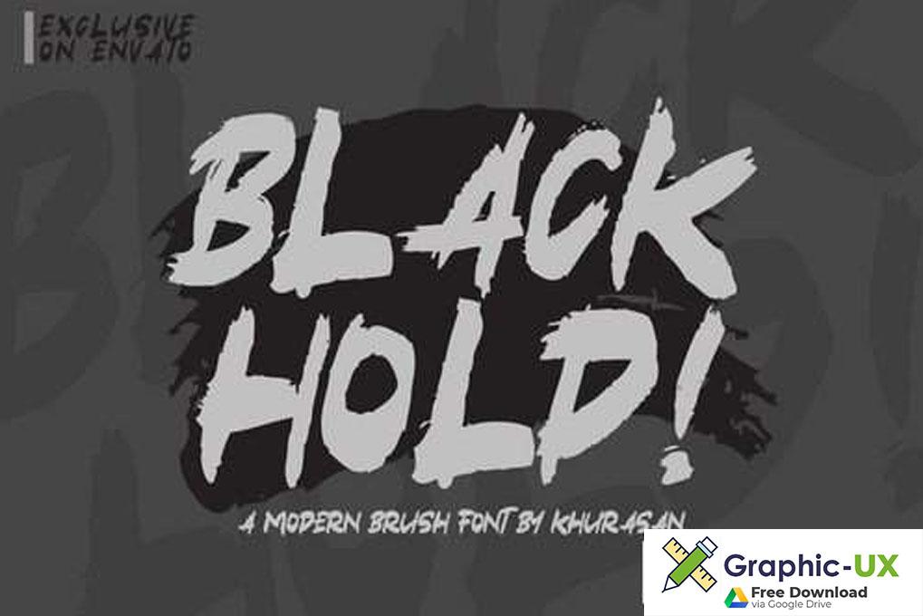 Black Hold Font