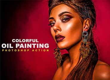 Colorful Oil Painting Photoshop Action