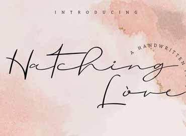 Hatching Love Font
