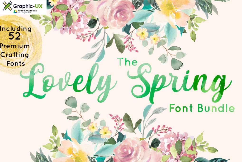 The Lovely Spring Font Bundle