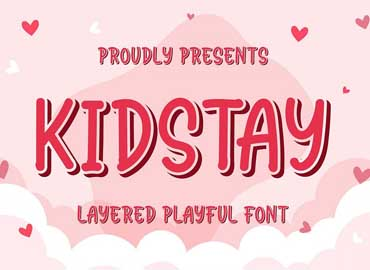 Kidstay - Layered Playful Font