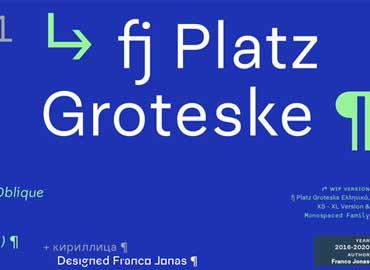 fj Platz Groteske Font
