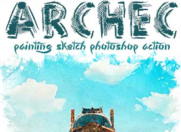 Archec - Painting Sketch Photoshop Action