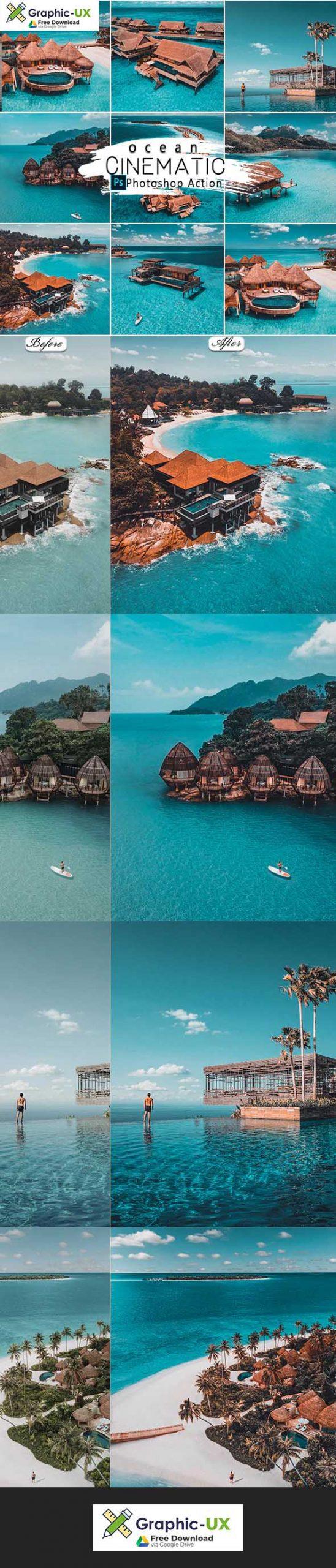 Cinematic Ocean Photoshop Actions