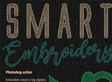 Smart Embroidery - Photoshop Action