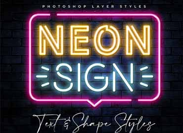 Neon Sign Photoshop Styles