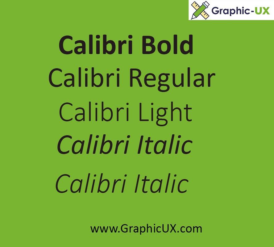 calibri font family