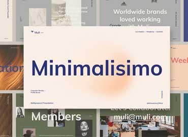 Muli™ Minimalist Powerpoint Presentation