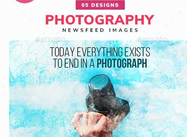 Photography Social Media News Feed Images Set - 05 Designs