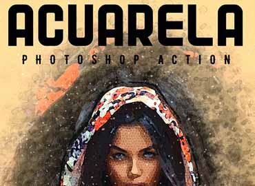 Acuarela - Watercolor Photoshop Action
