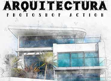 Arquitectura - Architecture Sketch Photoshop Action