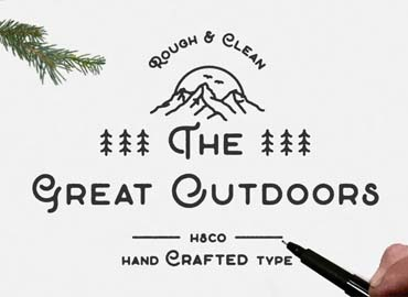 The Great Outdoors Font