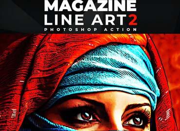 Magazine Line Art 2 - Photoshop Action