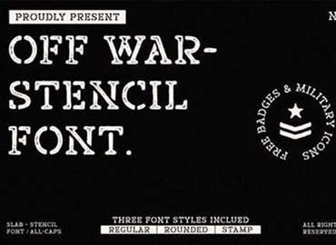 Off War Font