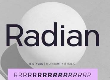 Radian Font
