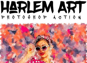 Harlem Art - Abstract Photoshop Action