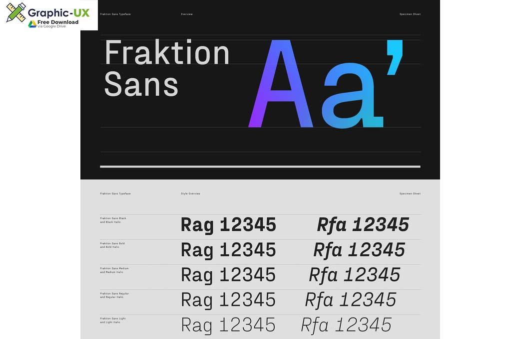 Fraktion Sans Font Family