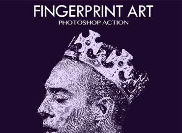 Fingerprint Art Photoshop Action