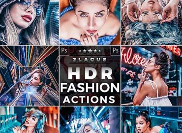 HDR Fashion - Portrait Actions Photoshop