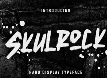 Skulrock Hard Display Typeface Font