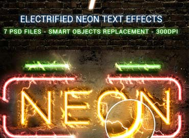 Electrified Neon Text Effects