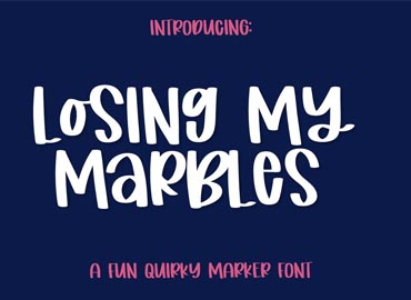 Losing My Marbles Font