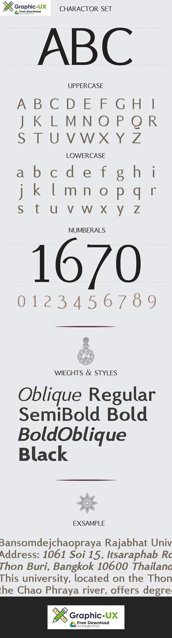 BSRU Bansomdej Font 6-Weights
