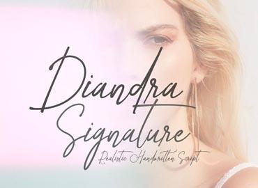 Diandra Signature Script Font