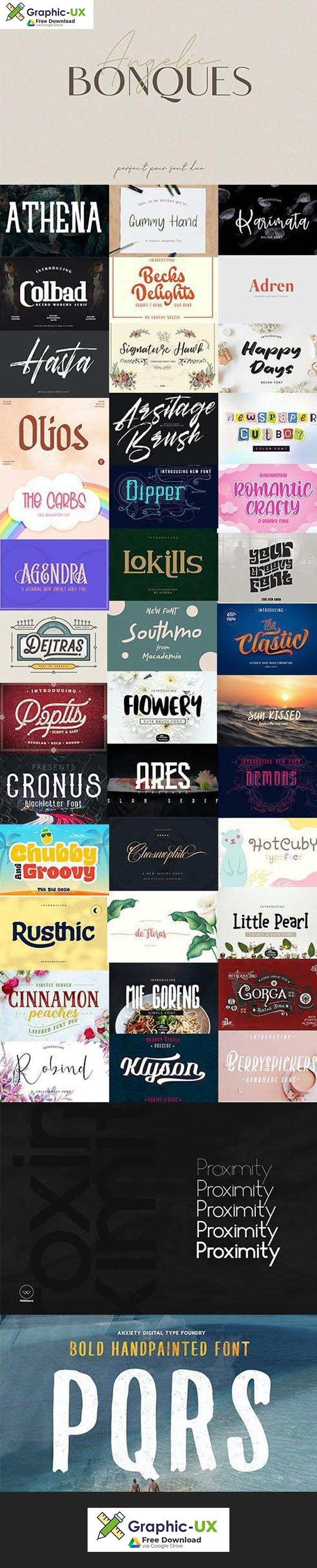 Super Fonts Pack Vol.2 Aug2020 42 Fonts