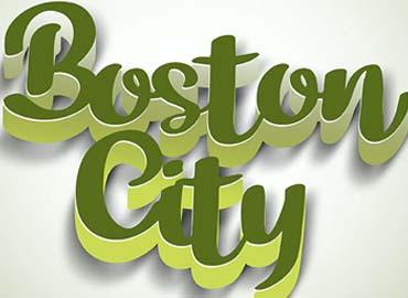 3D Text Styles Boston