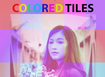 Colored Tiles Photoshop Action