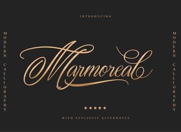 Marmoreal Decorative Script Font